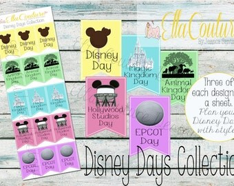 Disney Days Collection Banner Planner Stickers by Ella Couture by Jessica