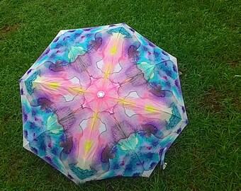 Folding umbrella - Abstract watercolor design 'Stain'