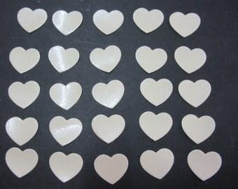 25 x 2cm Glitter Heart die cuts
