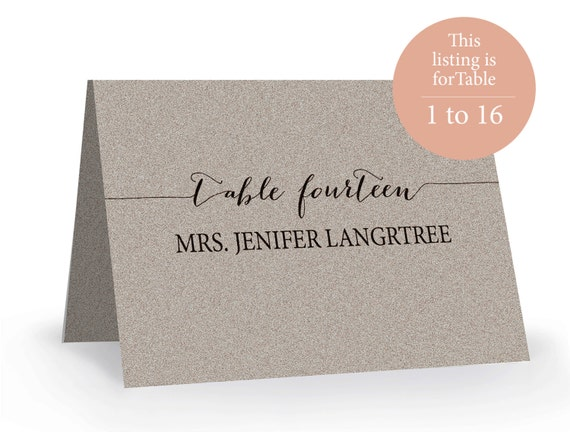 Stupendous image with printable escort cards
