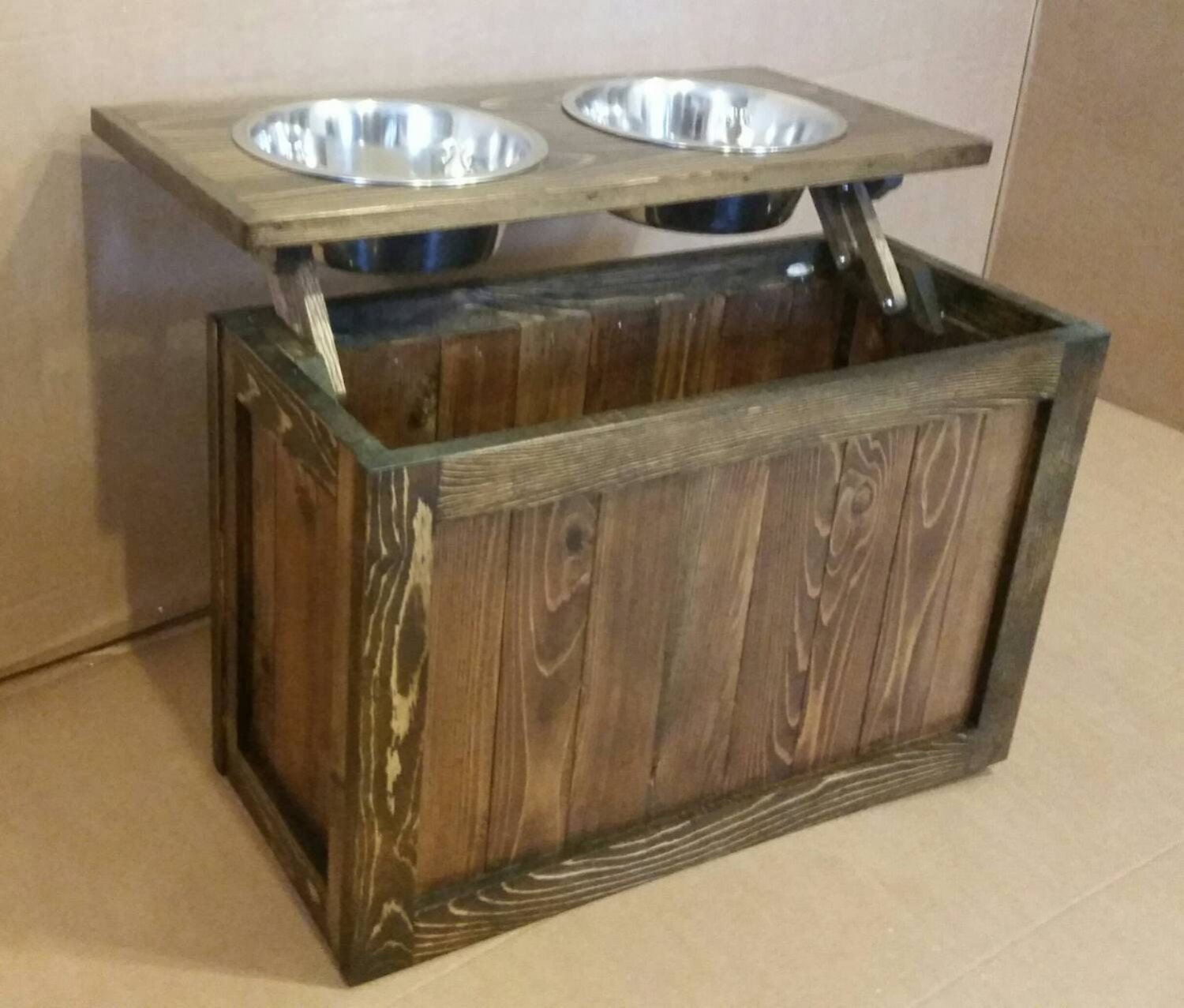 Make Your Own Food Bowl Stand