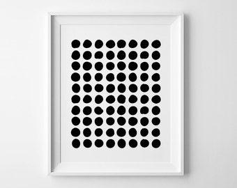 Abstract print, nursery printable wall art, Scandinavian print nursery decor geometric print, abstract wall art, black and white nursery art