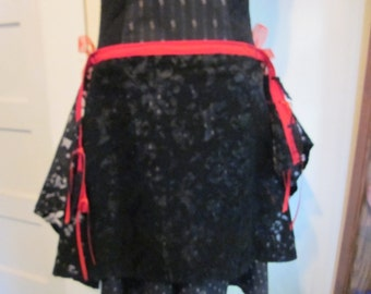 Belly dance skull panel skirts, handmade, one of a kind. Ties on sides
