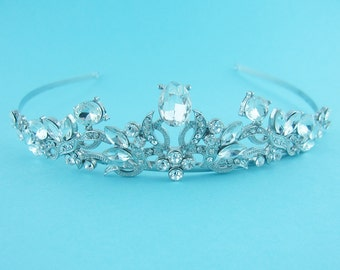 Bridal tiara headpiece, wedding tiara, wedding headpiece, rhinestone tiara, crystal tiara, crystal bridal accessories,wedding hair accessory