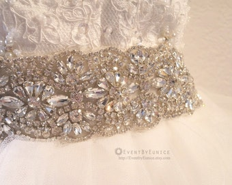 Wedding dress belt, Bridal dress belt, Wedding Sash, Bridal Sash, Crystal belt, Crystal sash, Bridesmaid Belt,  VICTORIA