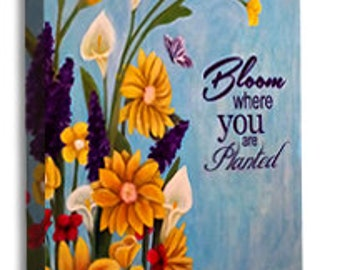 Bloom Canvas wrap Print