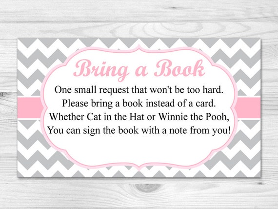 Adaptable image with regard to bring a book baby shower insert free printable