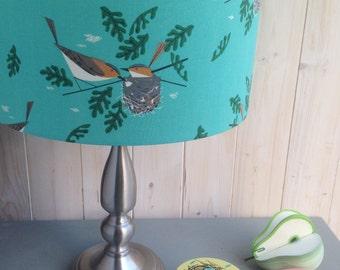 Charley Harper Nesting Birds fabric covered Lampshade