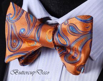 Matching Bow Tie + Pocket Square Combo Pattern Men's Handkerchief + Self Ties Bow Tie Bow Ties Untied Men