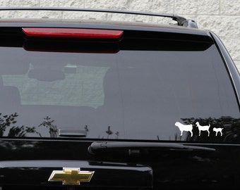 Nubian goat family decal set in 9 colors