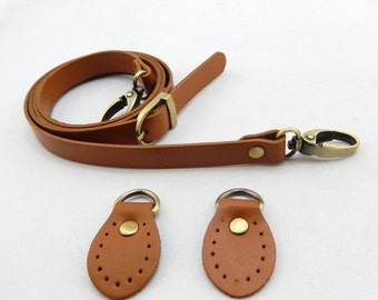 1 PCS 48 inches Cow Genuine Leather Bag Strap With Clasp,Genuine Leather Handbag Handles, Strong Shoulder Bag / Messenger Bag Purse Straps