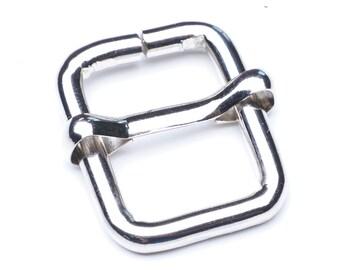 "1/2"" Adjustable Slide Buckle - Nickel - 30 pcs"