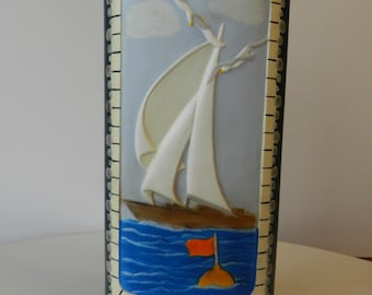 Sailboat vase