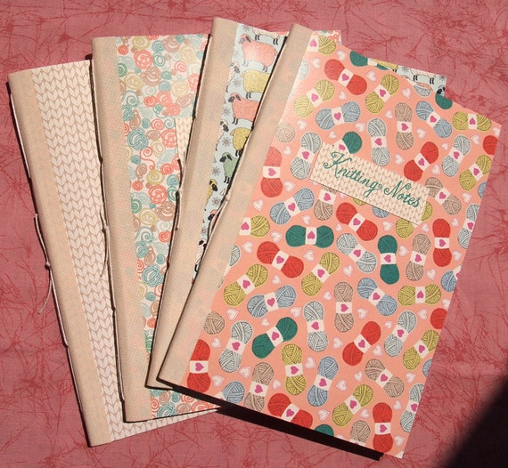 Knitting Graph Paper Notebook : Knitting notebook customizable handmade by paperorthreads
