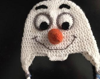 Olaf Crochet Hat, Frozen, Halloween, Disneyland, Disney World, Character hats