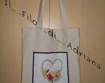 embroidered shopping bags
