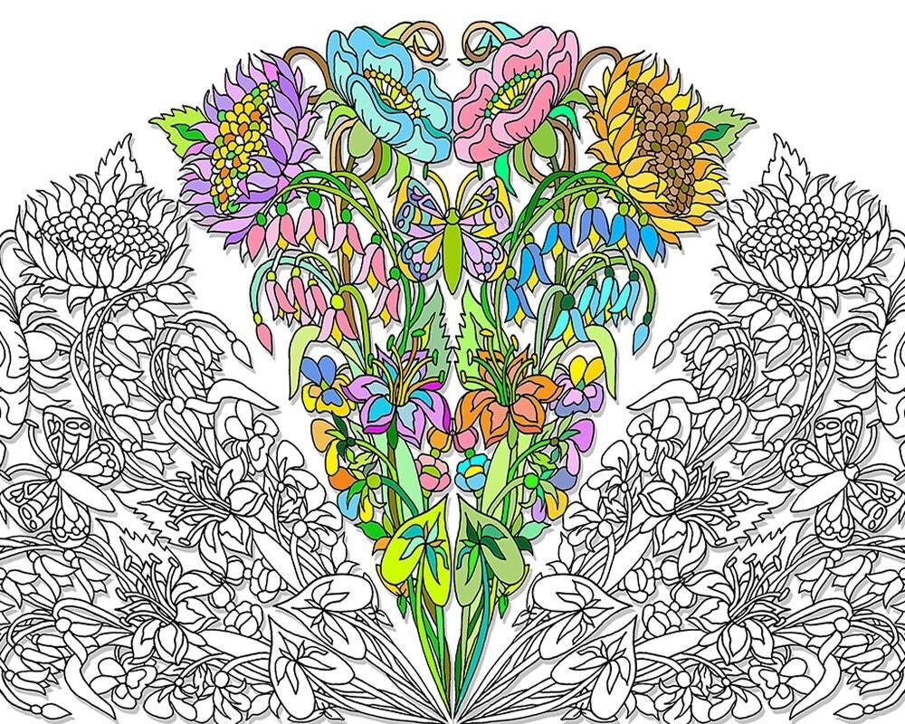 mandala coloring page wildflowers digi floral mandalas