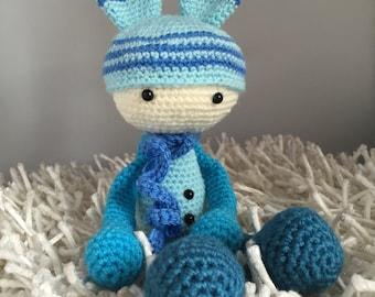 Alan - Crochet Amigurumi Toy Doll or Ornament