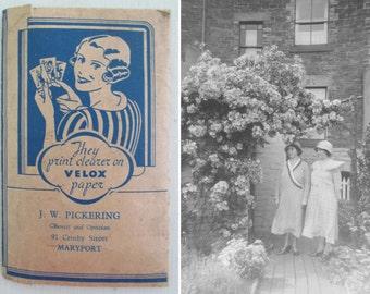 Wonderfully nostalgic vintage 1930s Kodak negative pack~Mrs Baxters holiday snaps~Fab vintage packaging~Charming & evocative ephemera