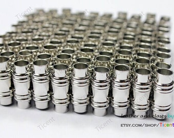 3 sets 6mm Hole Silver Magnetic Clasp, 21mm High, Strong Magnetic. MT6M-500