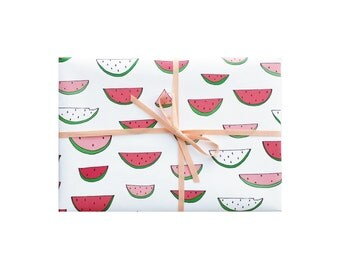 Watermelon Wrapping Paper, Watermelon Wrapping Sheets, Watermelon Gift Wrap, Pretty Gift Wrap, Pretty Wrapping Paper