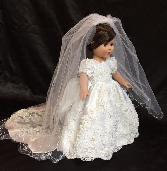 18 in american girl doll 2 piece wedding dress and veil one for American girl wedding dress