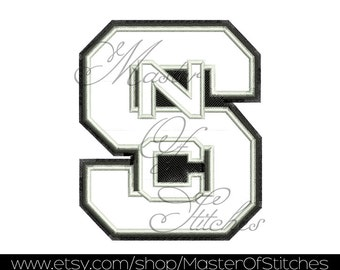 Football Applique Design for Embroidery Machine (north carolina) 4x4 - Instant Download
