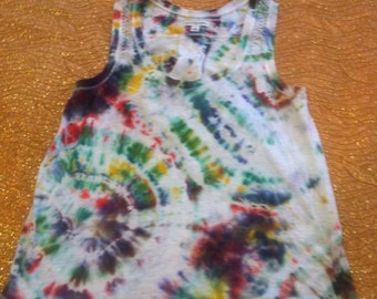 Women's Size Small Tie Dye Cotton Tank Top