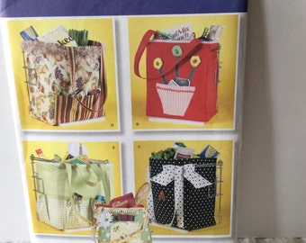 Simplicity 2352 Shopping Bag or Beach Bag Sewing Pattern 3 different sizes
