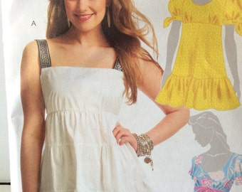 McCall's 5626 Tunic Dress Summer Shirt Sewing Pattern Size Misses 6-14 Beach Cover up, Pullover Dress