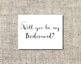 Will You Be My Bridesmaid Printable | Will You Be My Bridesmaid Card | Bridesmaid Card | Will You Card Printable | INSTANT DOWNLOAD