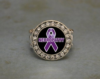Neuropathy Awareness Stretchy Ring