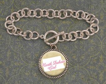 North Dakota Girl Bracelet - SOY56067ND