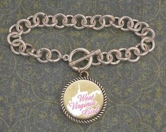 West Virginia Girl Bracelet - SOY56067WV