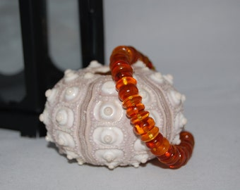 "Baltic Amber Beaded Bracelet (8"")"