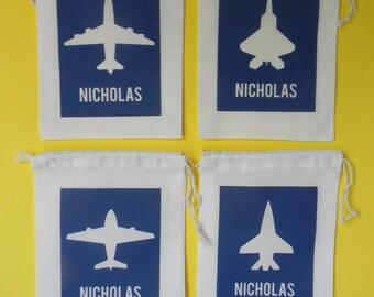 Planes Favor Bags, Planes Party Favor Bags, Airplane Personalized Favor Bags-Airplane Favor Bags - Airplane Party Favors