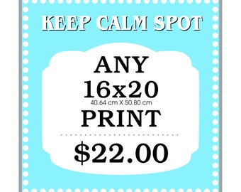 Any 16x20 Art Print from KEEP CALM SPOT
