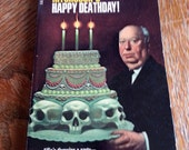Vintage Horror Book - Alfred Hitchcock - Happy Deathday! - Dell Mystery Books