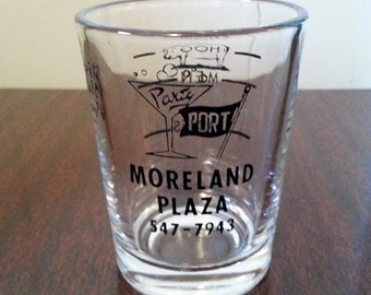 Vintage Moreland Plaza Double Shot Glass/Low Ball Glass