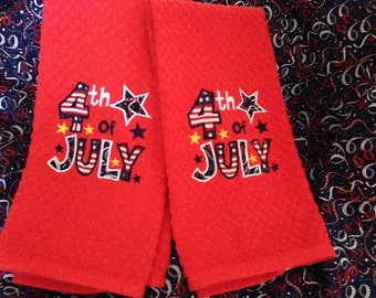 Festive 4th of July Kitchen Towels