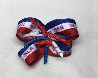 Patriotic Hair Bow, Hair Clip for your little Princess.