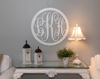 Monogram Sign, Baby Monogram, Monogram for Nursery, Wall Monogram, Monogram for front door, Monogram for wreath.