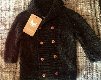 Alpaca Coat, Knitted Coat, Baby Coat, sweater, baby sweater
