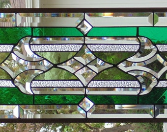 Stained Glass Window Hanging 32 X 12
