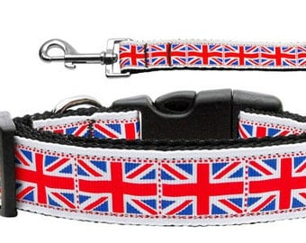 British Flag - UK Dog Collar/Leash (Union Jack)