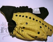CLEARANCE! ONESIZE Yellow Front Snapping WindPro® Fleece Cloth Diaper COVER with Black Snaps & Inner