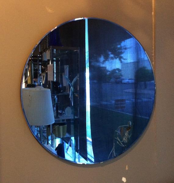Art Deco Cobalt Blue Mirror 1930s Art Deco By