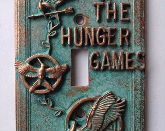 The Hunger Games - Light Switch Cover - Aged Copper/Patina or Stone