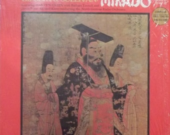 Gilbert and Sullivan, Mikado, Vintage Record Album, Vinyl LP, Opera Music, North German Radio Orchestra, Japanese Opera