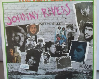 Johnny Rivers, The Very Best of Johnny Rivers, Vintage Record Album, Vinyl LP, Singer Songwriter, Guitarist, Folk Singer